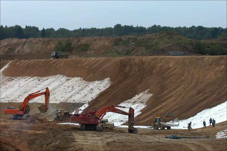 Landfill Iksha - ditch construction