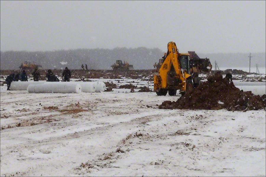 Landfill Sosenki - Layering clay liner