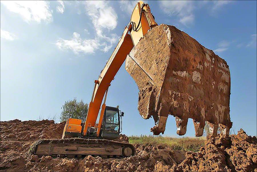Landfill Khmet'evo - Excavator