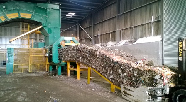 New Macpresse Bailer Processing Refuse Derived Fuel at Countrystyle MRF in Kent