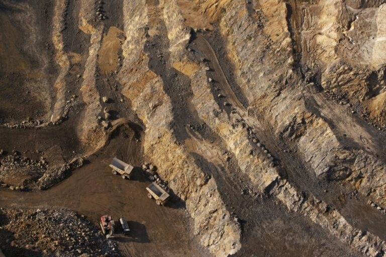 An environmentally friendly open pit gold mine in Ghana