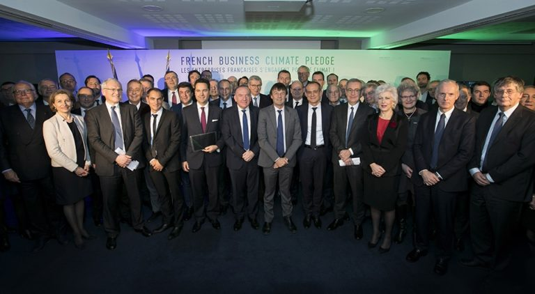 """Veolia is one of the 89 signatory companies to the French Business Climate Pledge: """"French businesses are committed to the climate!"""""""