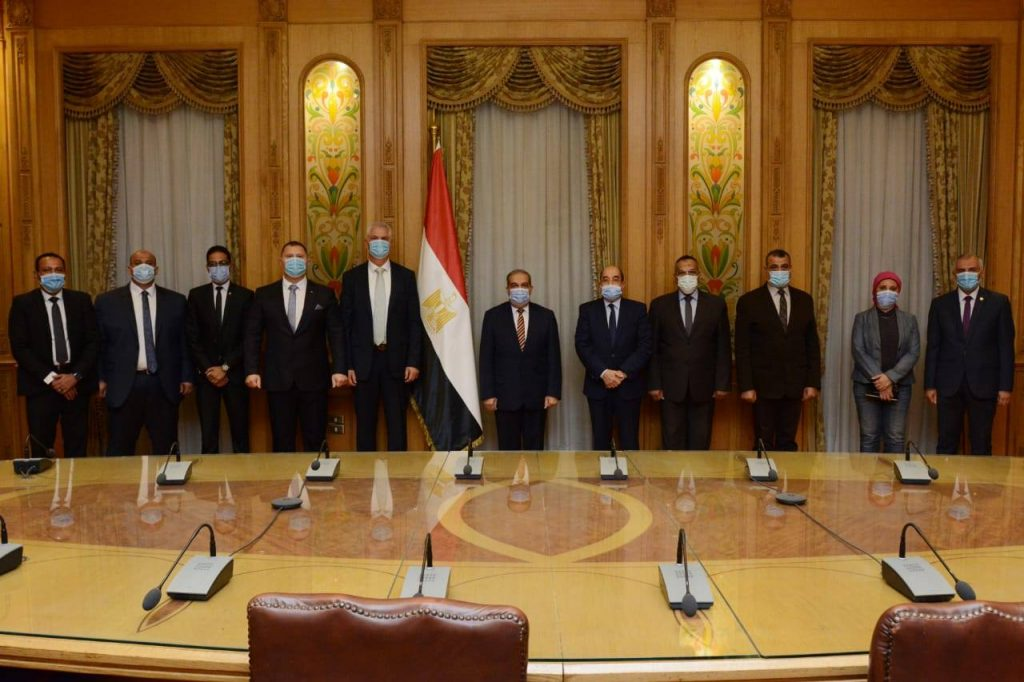 Official photo before signing of the cooperation protocol with the Ministry of Military Production.