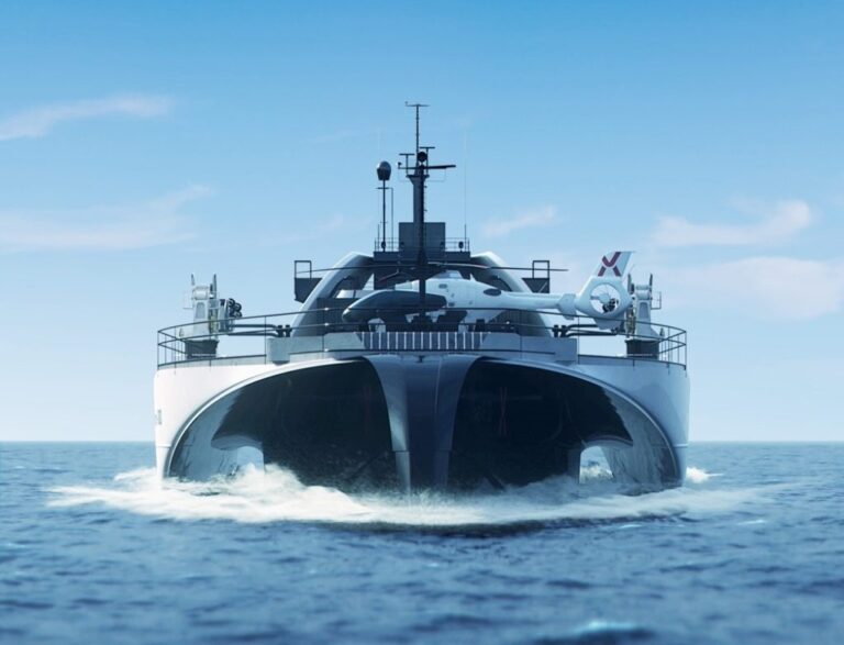 The automated vessel designed to transport electricity from offshore wind farms to shore
