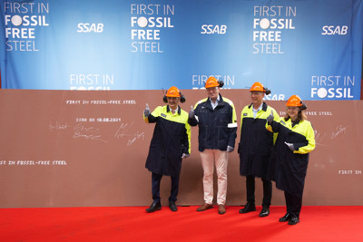 Volvo receives world's first fossil-free steel